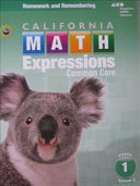 Math Expressions California  Grade 1 PDF