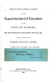 Annual Report of the Superintendent of Education of the State of Alabama