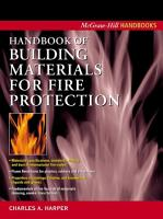 Handbook of Building Materials for Fire Protection PDF