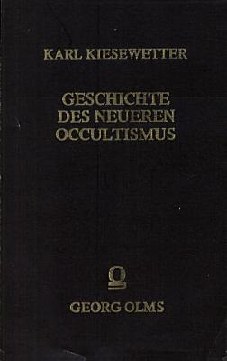 Geschichte des neueren Occultismus PDF