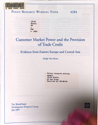 Customer Market Power and the Provision of Trade Credit PDF