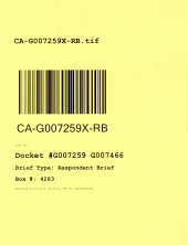 California. Court of Appeal (4th Appellate District). Division 3. Records and Briefs: G007259, Respondent Brief
