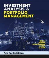 Investment Analysis   Portfolio Management PDF