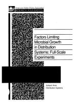 Factors Limiting Microbial Growth in Distribution Systems PDF