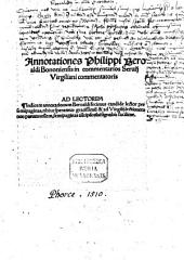 Annotationes in commentarios Servii Virgiliani commentatoris