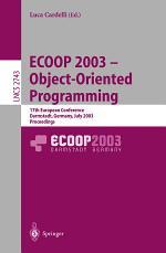 ECOOP 2003 - Object-Oriented Programming