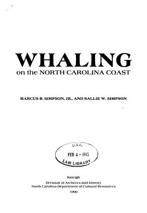Whaling on the North Carolina Coast