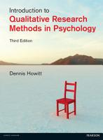 Introduction to Qualitative Research Methods in Psychology eBook PDF PDF