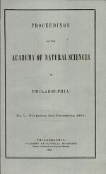 Proceedings of The Academy of Natural Sciences (No. 5 -- Nov. and Dec., 1864)