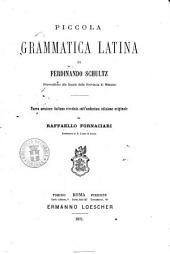 Piccola grammatica latina di Ferdinando Schultz