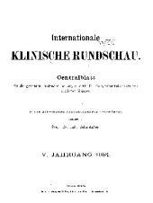 Internationale klinische Rundschau: Band 5