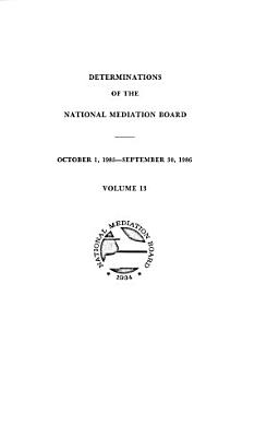 Determination of Craft Or Class of the National Mediation Board