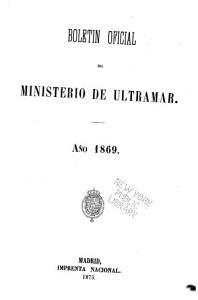 Bolet  n oficial del Ministrio de Ultramar PDF