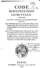 Code d'instruction criminelle