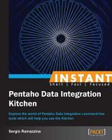 Instant Pentaho Data Integration Kitchen PDF