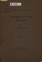 Information for Readers in the Library of Congress