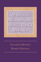 Qualitative Methods and Health Policy Research PDF