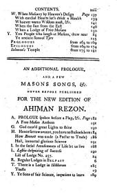 Ahiman Rezon ... The seventh edition, with additions