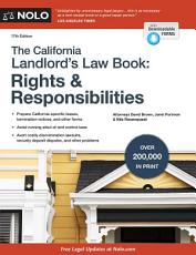 California Landlord's Law Book, The: Rights & Responsibilities