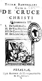 De Cruce Christi: hypomnemata IV