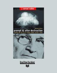 Prompt And Utter Destruction Book PDF