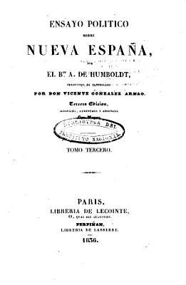 Ensayo pol  tico sobre Nueva Espa  a PDF