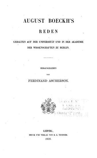 Gesammelte kleine Schriften  Bd  Reden  1859 PDF