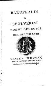 Poemi georgici del secolo 18. Baruffaldi e Spolverini