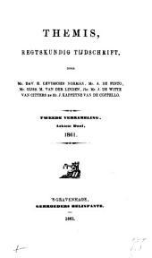 Themis: verzameling van bijdragen tot de kennis van het publiek- en privaatrecht, Volume 22