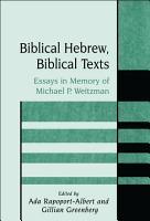 Biblical Hebrew  Biblical Texts PDF