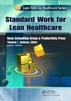Standard Work for Lean Healthcare PDF