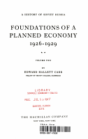 A History of Soviet Russia  Foudations of a Planned Economy 1926   1929 PDF