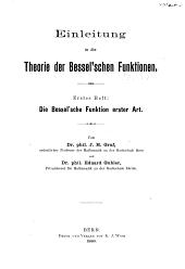 Einleitung in die Theorie der Bessel'schen Funktionen: Band 2