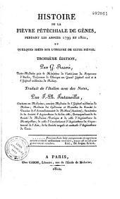 Histoire de la fièvre pétéchiale de Gênes, pendant les années 1799 et 1800