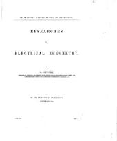 Researches on Electrical Rheometry