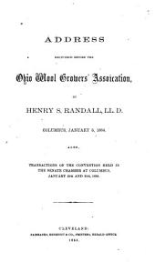 Address Delivered Before the Ohio Wool Growers' Association, Columbus, January 6, 1864