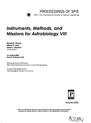 Instruments  Methods  and Missions for Astrobiology VIII PDF