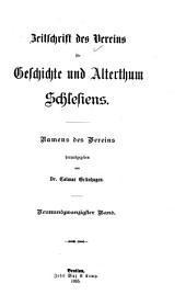 Zeitschrift des Vereins für Geschichte Schlesiens: Band 29