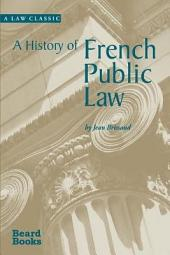 A History of French Public Law