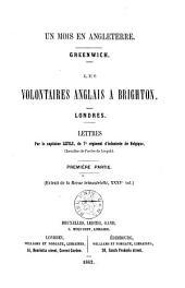 Un mois en Angleterre: Greenwich, les volontaires Anglais a Brighton, Londres