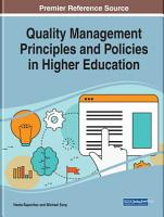 Quality Management Principles and Policies in Higher Education PDF