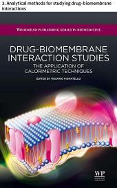 Drug–biomembrane interaction studies: 3. Analytical methods for studying drug–biomembrane interactions