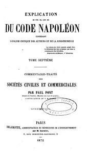 Des privilèges et hypothèques ; Des petits contrats et de la contrainte par corps: Volume7