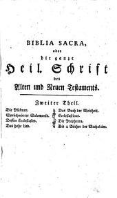 """""""Die"""" heilige Schrift des alten (und neuen) Testamentes ... neuerdings übers. von Heinrich Braun: Band 2"""