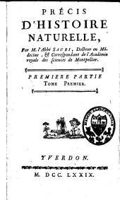 Précis d'histoire naturelle: Volume1,Partie1