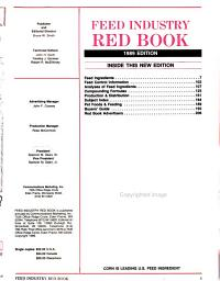 Feed Industry Red Book