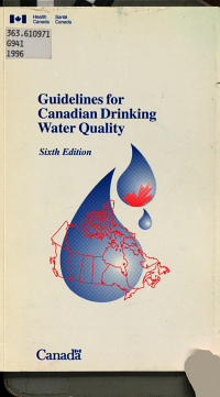 Guidelines for Canadian Drinking Water Quality