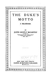 The Duke's Motto: A Melodrama