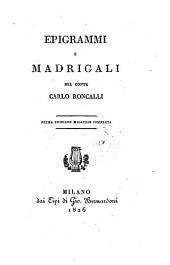 Epigrammi e Madrigali