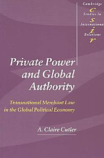 Private Power and Global Authority Book